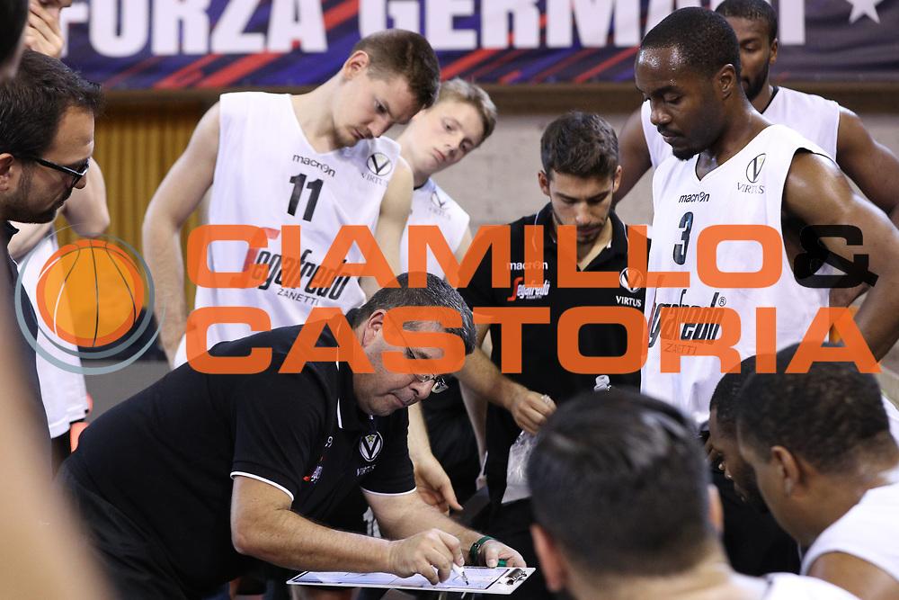 Time out Virtus Bologna, Germani Basket Brescia vs Virtus Segafredo Bologna, 2 edizione Trofeo Roberto Ferrari, Finale 3-4 posto, PalaGeorge di Montichiari 23 settembre 2017