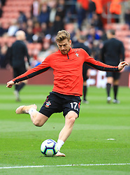 Southampton's Stuart Armstrong warming up before the game