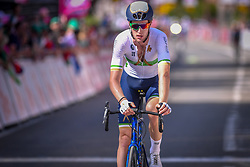 July 28, 2018 - Les Bons Villers, BELGIUM - Irish Conor Dunne of Aqua Blue Sport arrives after the first stage of the Tour De Wallonie cycling race, 193,4 km from La Louviere to Les Bons Villers, on Saturday 28 July 2018. BELGA PHOTO LUC CLAESSEN (Credit Image: © Luc Claessen/Belga via ZUMA Press)