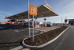 Petrol station, new Sainsbury's superstore, Thanet, Kent UK