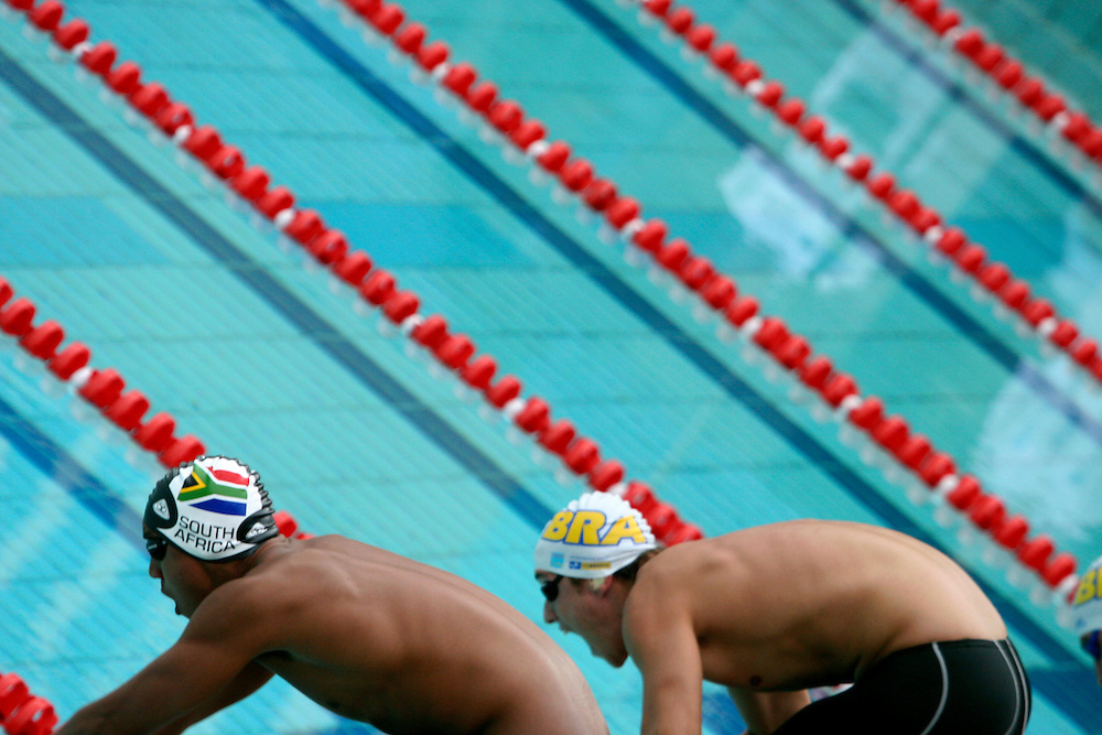 Belo Horizonte_MG, Brasil...Nadadores na eliminatoria mundial de natacao 2006. ..Swimmers in the World Swimming 2006...Foto: LEO DRUMOND / NITRO