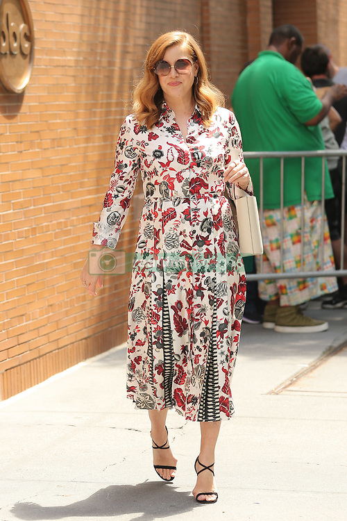 Amy Adams seen coming out from the View tv show wearing a gorgeous floral dress. 31 Jul 2018 Pictured: Amy Adams. Photo credit: MEGA TheMegaAgency.com +1 888 505 6342