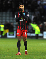 A dejected Blackburn Rovers' Dominic Samuel applauds the fans at the final whistle <br /> <br /> Photographer Ian Cook/CameraSport<br /> <br /> The EFL Sky Bet League One - Plymouth Argyle v Blackburn Rovers - Saturday 3rd February 2018 - Home Park - Plymouth<br /> <br /> World Copyright © 2018 CameraSport. All rights reserved. 43 Linden Ave. Countesthorpe. Leicester. England. LE8 5PG - Tel: +44 (0) 116 277 4147 - admin@camerasport.com - www.camerasport.com