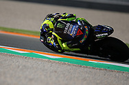 #46 Valentino Rossi, Italian: Movistar Yamaha MotoGP during the Gran Premio Motul de la Comunitat Valenciana at Circuito Ricardo Tormo Cheste, Valencia, Spain on 16 November 2019.