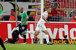 16.10.2011,  Rhein Energie Stadion, Koeln, GER, 1.FBL, 1. FC Koeln vs Hannover 96 ,im Bild.Torjubel / Jubel  nach dem 2:0 durch Lukas Podolski (Koeln #10)..// during the 1.FBL, 1. FC Koeln vs Hannover 96 on 2011/10/16, Rhein-Energie Stadion, Köln, Germany. EXPA Pictures © 2011, PhotoCredit: EXPA/ nph/  Mueller *** Local Caption ***       ****** out of GER / CRO  / BEL ******