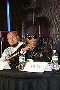 Cool and Q-Tip at The Smirnoff Press Conference announcing Music Series held at Element on February 26, 2008