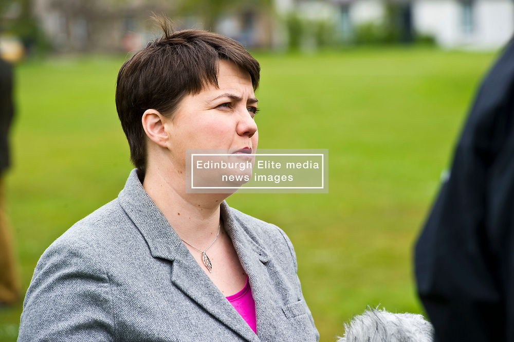 Pictured: Ruth Davidson  <br /> <br /> Scottish Tory leader Ruth Davidson and Scottish Secretary David Mundell took to the campaign trail in West Linton today.<br /> <br /> Ger Harley | EEm 13 May 2017