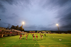 A general view of Twerton Park as Bristol City warm up - Mandatory by-line: Dougie Allward/JMP - 07/10/2020 - FOOTBALL - Twerton Park - Bath, England - Bristol City Women v London Bees - FA Continental Cup