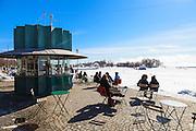 An outdoor cafe in Helsinki, Finland.