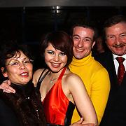 Premiere Musicals in Concert, Maaike Widdershoven en haa rman Daniel Staakman en haar ouders