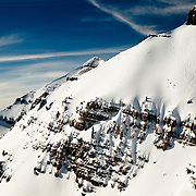 Angel Collinson skis the East Face of No Name Peak in the Teton Backcountry.