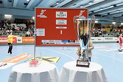 11.03.2017, Halle Hollgasse, Wien, AUT, HLA, SG INSIGNIS Handball WESTWIEN vs HC Fivers WAT Margareten, Oberes Playoff, 5. Runde, im Bild Auslosung des Cup Final4 // during Handball League Austria, 5 th round match between HC Fivers WAT Margareten and SG INSIGNIS Handball WESTWIEN at the Halle Hollgasse, Vienna, Austria on 2017/03/11, EXPA Pictures © 2017, PhotoCredit: EXPA/ Sebastian Pucher