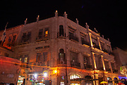 Jerusalem, Old City buildings illuminated at night
