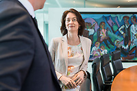 03 APR 2019, BERLIN/GERMANY:<br /> Katharina Barley, SPD, Budnesjustizministerin, vor Beginn der Kabinettsitzung, Bundeskanzleramt<br /> IMAGE: 20190403-01-002<br /> KEYWORDS: Kabinett, Sitzung
