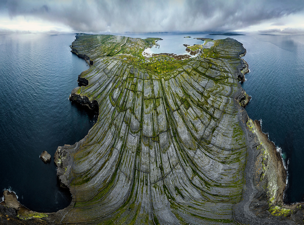 The Dry Stone Walls of  Inishmore at Aran Islands, Ireland