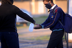 South Africa - Cape Town - 21  June 2020 -  Congress of South African Students joined by concerned parents shut down two Schools in Khayelitsha, Iqhayiya and Bulumko High School after teaches tested positive for covid-19 Photographer: Ayanda Ndamane/African News Agency(ANA)