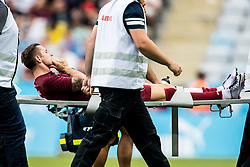 August 1, 2018 - MalmÅ, SVERIGE - 180801 Ciprian Deac of Cluj is taken off the pitch during the UEFA Champions League qualifying match between MalmÅ¡ FF and Cluj on August 1, 2018 in MalmÅ¡..Photo: Mathilda Ahlberg / BILDBYRN / Cop 178  (Credit Image: © Mathilda Ahlberg/Bildbyran via ZUMA Press)