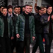 NLD/Amsterdam/20120124 - Modeshow Cold Method 5 jaar, Patrick Martens en Jim Bakkum