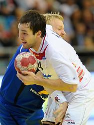 30.10.2010, Arena Nova, Wiener Neustadt, AUT, Euro Handball 2012 Qualifier, Austria vs Iceland, im Bild SZILAGYI Viktor, FP, AUT, INGIMUNDARSON Ingimundu, FP, ISL, EXPA Pictures 2010, PhotoCredit: EXPA/ S. Trimmel