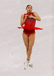 February 12, 2018 - Gangneung, South Korea - MIRAI NAGASU of the USA competes during the Team Event Ladies Single Skating FS at the PyeongChang 2018 Winter Olympic Games at Gangneung Ice Arena. Nagasu has become the first American woman to land a triple axel in the Olympics. (Credit Image: © Paul Kitagaki Jr. via ZUMA Wire)