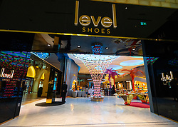 Level Shoes luxury shoe department in Dubai Mall, UAE, United Arab Emirates
