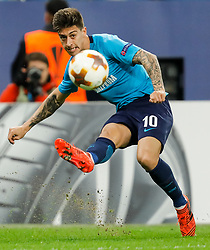 November 23, 2017 - Saint Petersburg, Russia - Emiliano Rigoni of FC Zenit Saint Petersburg crosses the ball during the UEFA Europa League Group L match between FC Zenit St. Petersburg and FK Vardar at Saint Petersburg Stadium on November 23, 2017 in Saint Petersburg, Russia. (Credit Image: © Mike Kireev/NurPhoto via ZUMA Press)