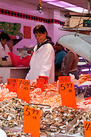 fish mongers shop in china town New York City October 2008