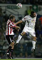 Photo: Paul Thomas.<br /> Leeds United v Sunderland. Coca Cola Championship. 13/09/2006.<br /> <br /> Kenny Cunningham (L) of Sunderland and Geoff Horsfield.