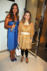 Left to right, sisters LADY NATASHA RUFUS-ISAACS and LADY SYBILLA HART at a party to launch jeweller Boodles new store at 178 New Bond Street, London W1 on 26th September 2007.<br /><br />NON EXCLUSIVE - WORLD RIGHTS