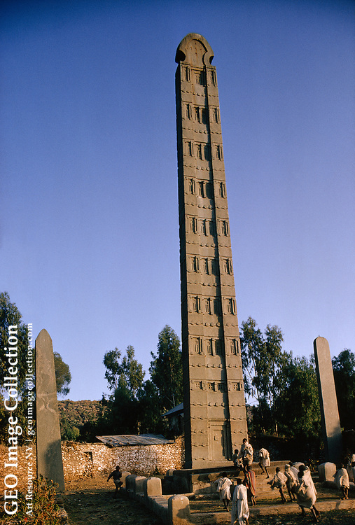 How Aksum's granite stele was quarried and set upright is a mystery.