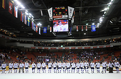 Team Slovenia at ice-hockey match USA vs Slovenia at Preliminary Round (group B) of IIHF WC 2008 in Halifax, on May 04, 2008 in Metro Center, Halifax, Nova Scotia, Canada. (Photo by Vid Ponikvar / Sportal Images)