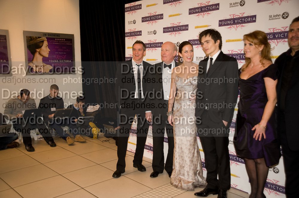 TECHNICIANS; JEAN-MARC VALLEE; JULIAN FELLOWES; EMILY BLUNT; RUPERT FRIEND; THE DUCHESS OF YORK. The World Premiere of Young Victoria in aid of Children in Crisis and St. John Ambulance. Odeon Leicesgter Sq. and afterwards at Kensington Palace. 3 March 2009 *** Local Caption *** -DO NOT ARCHIVE -Copyright Photograph by Dafydd Jones. 248 Clapham Rd. London SW9 0PZ. Tel 0207 820 0771. www.dafjones.com<br /> TECHNICIANS; JEAN-MARC VALLEE; JULIAN FELLOWES; EMILY BLUNT; RUPERT FRIEND; THE DUCHESS OF YORK. The World Premiere of Young Victoria in aid of Children in Crisis and St. John Ambulance. Odeon Leicesgter Sq. and afterwards at Kensington Palace. 3 March 2009