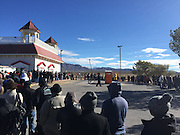 As the closing of the Lottery Powerball $700 million jackpot approches on Saturday. people queue for hours to participate in the largest ever jackpot. Photographed on Friday January 8th in Las vegas Nevada