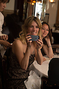 TEODELINA ESCALANTE; LUISA DE ALZAGA, Dinner in aid of the China Tiger Revival hosted by Sir David Tang and Stephen Fry  at China Tang, Park Lane, London. 1 October 2013. ,