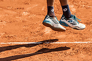 Ambiance and print in the sand during the Roland Garros French Tennis Open 2018, Preview, on May 21 to 26, 2018, at the Roland Garros Stadium in Paris, France - Photo Pierre Charlier / ProSportsImages / DPPI