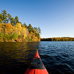 Canoe on the Saco River in Hollis, Maine