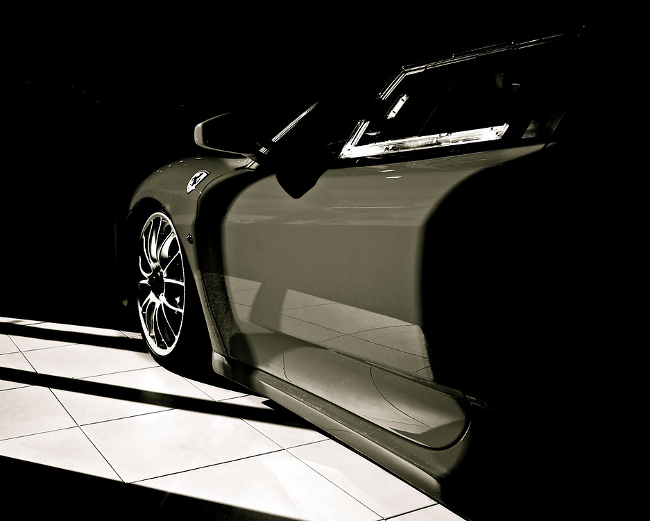 Several years ago, I stopped by Ferrari San Diego and shot a few photos.  I'm really pleased with this image, edited in black and white.