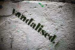 UK ENGLAND LONDON 4NOV12 - Street art 'vandalised' graffiti near Brick Lane and Shoreditch in London's trendy east end.....jre/Photo by Jiri Rezac....© Jiri Rezac 2012
