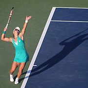 Samantha Stosur, Australia, in action against Victoria Duval, USA, in action during the Women's Singles competition at the US Open. Flushing, New York, USA. 27th August 2013. Photo Tim Clayton