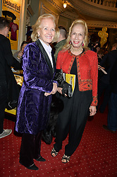Left to right, RONA, LADY DELVES BROUGHTON and LADY COLIN CAMPBELL at Beautiful - The Carole King Musical 1st Birthday celebration evening at The Aldwych Theatre, London on 23rd February 2016.