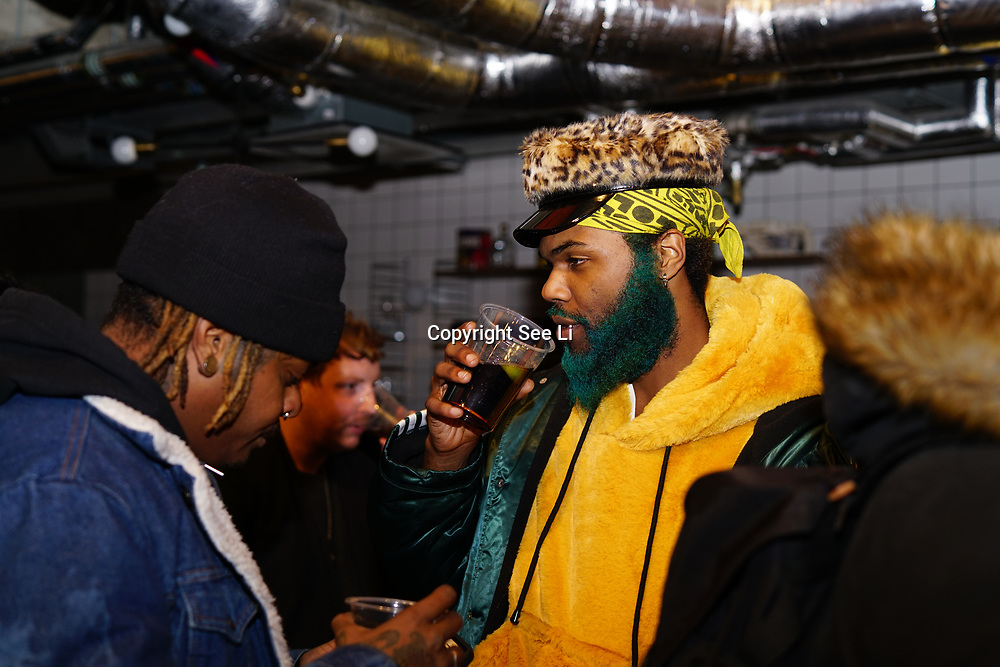 London, England, UK. 1st December 2017. Rome Fortune attends Sagaboi Magazine: Men's Style 2017 - book launch held at WeWork Old Street.