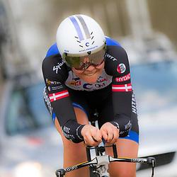 09-04-2016: Wielrennen: Energiewachttour vrouwen: Roden<br /> LEEK (NED) wielrennen<br /> De vijfde etappe van de Energiewachttour was een individuele tijdrit met start en finish in Leek. Denmark Julie Leth