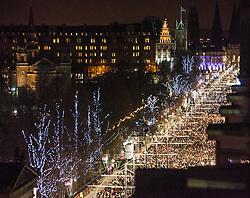 Crowd on Princes Street.<br /> Edinburgh's Hogmanay 2013.