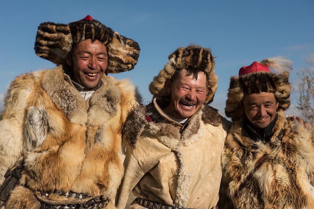 Kazakh Eagle hunters<br /> Golden Eagle Festival<br /> in Bayan Olgii province<br /> Western Mongolia
