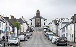 Exterior of Kilarow Parish Church ( Round church) on Main Street in Bowmore, Islay, Scotland, UK