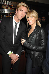 LADY EMILY COMPTON and MR JAMES COOK at a leaving party for Poppy Delevigne who is going to New York to persue a career as an actress, held at Chloe, Cromwell Road, London on 25th January 2007.<br />