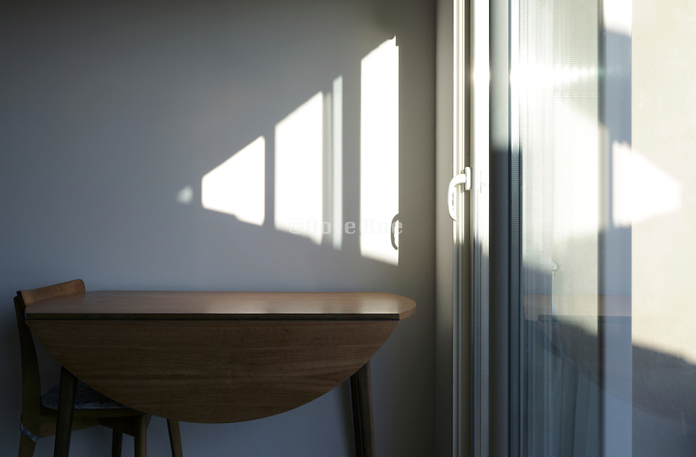 sun light projected on a wall