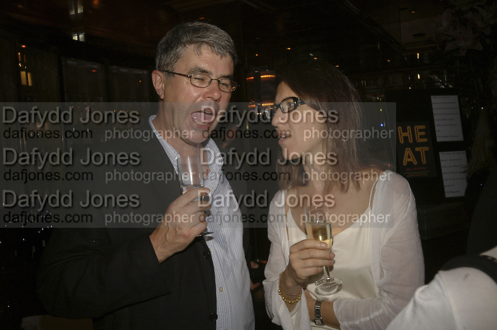 DAN FRANKLIN AND Michelle Lavery, publication party for Bill Buford and his memoir HEAT. Hosted by Marco Pierre White at 'Frankie's. Knightsbridge. 10 July 2006. ONE TIME USE ONLY - DO NOT ARCHIVE  © Copyright Photograph by Dafydd Jones 66 Stockwell Park Rd. London SW9 0DA Tel 020 7733 0108 www.dafjones.com