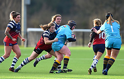 Naomi Keddie of Bristol Bears Women tackles Laura Keates of Worcester Valkyries - Mandatory by-line: Paul Knight/JMP - 19/01/2019 - RUGBY - Shaftesbury Park - Bristol, England - Bristol Bears Women v Worcester Valkyries - Tyrrells Premier 15s