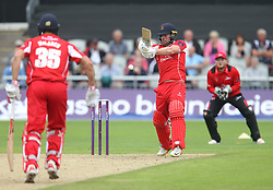 Steven Croft of Lancashire Lightning (C) in action - Mandatory by-line: Jack Phillips/JMP - 23/07/2017 - CRICKET - Emirates Old Trafford - Manchester, United Kingdom - Lancashire Lightning v Durham Jets - Natwest T20 Blast